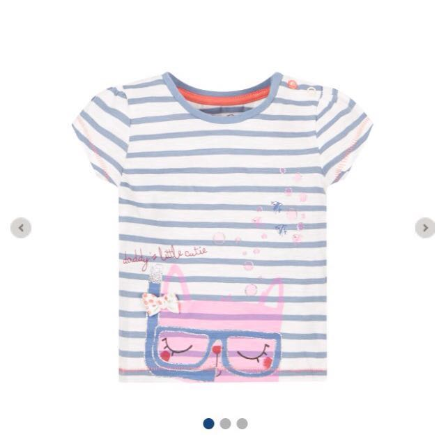 SALE! New Mothercare T-shirt Snorkeling Cat