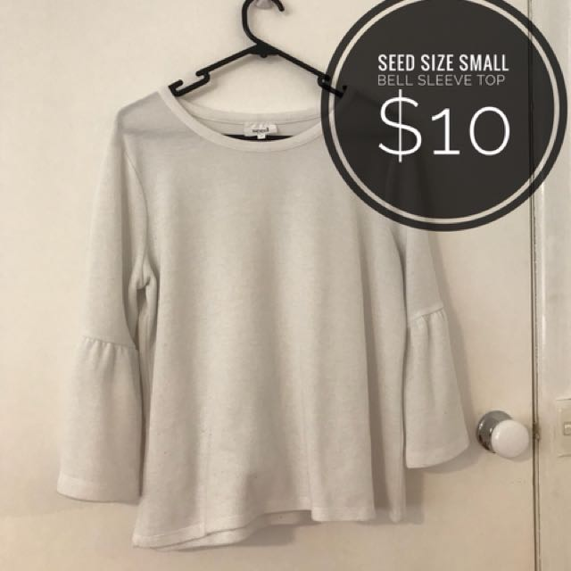 Seed bell sleeve top