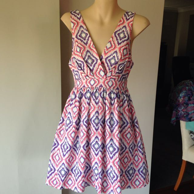 Size 8 Colourful Dress