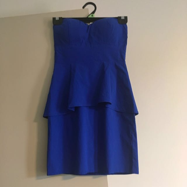 Size Small Strapless Blue Dress