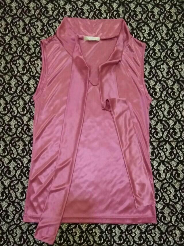 Tank Top Satin Pink
