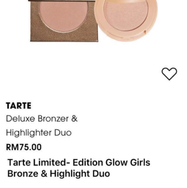 Tarte Limited-Edition Glow Girls Bronze & Highlighter Duo
