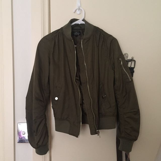 Topshop size 8 bomber