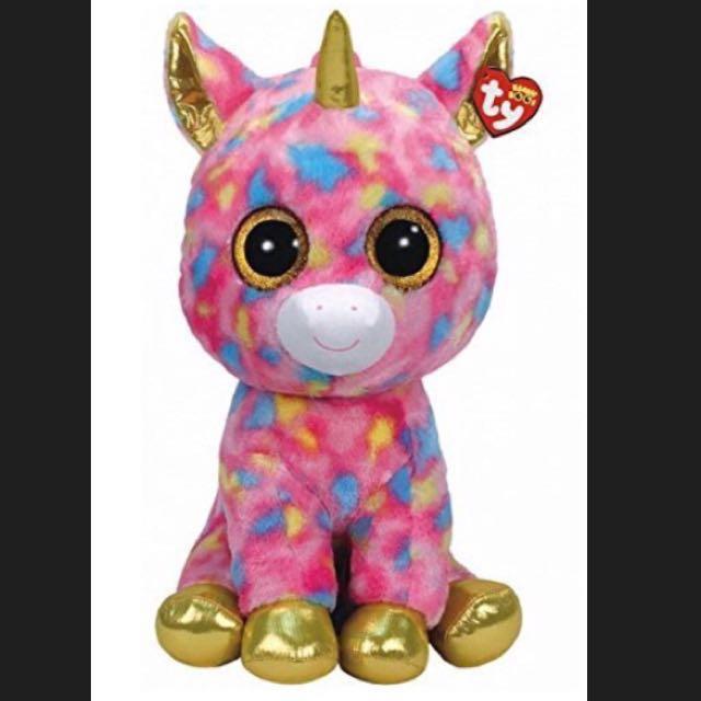 """0021f2a838f Ty Beanie Boo - Large 16"""" Fantasia Unicorn"""