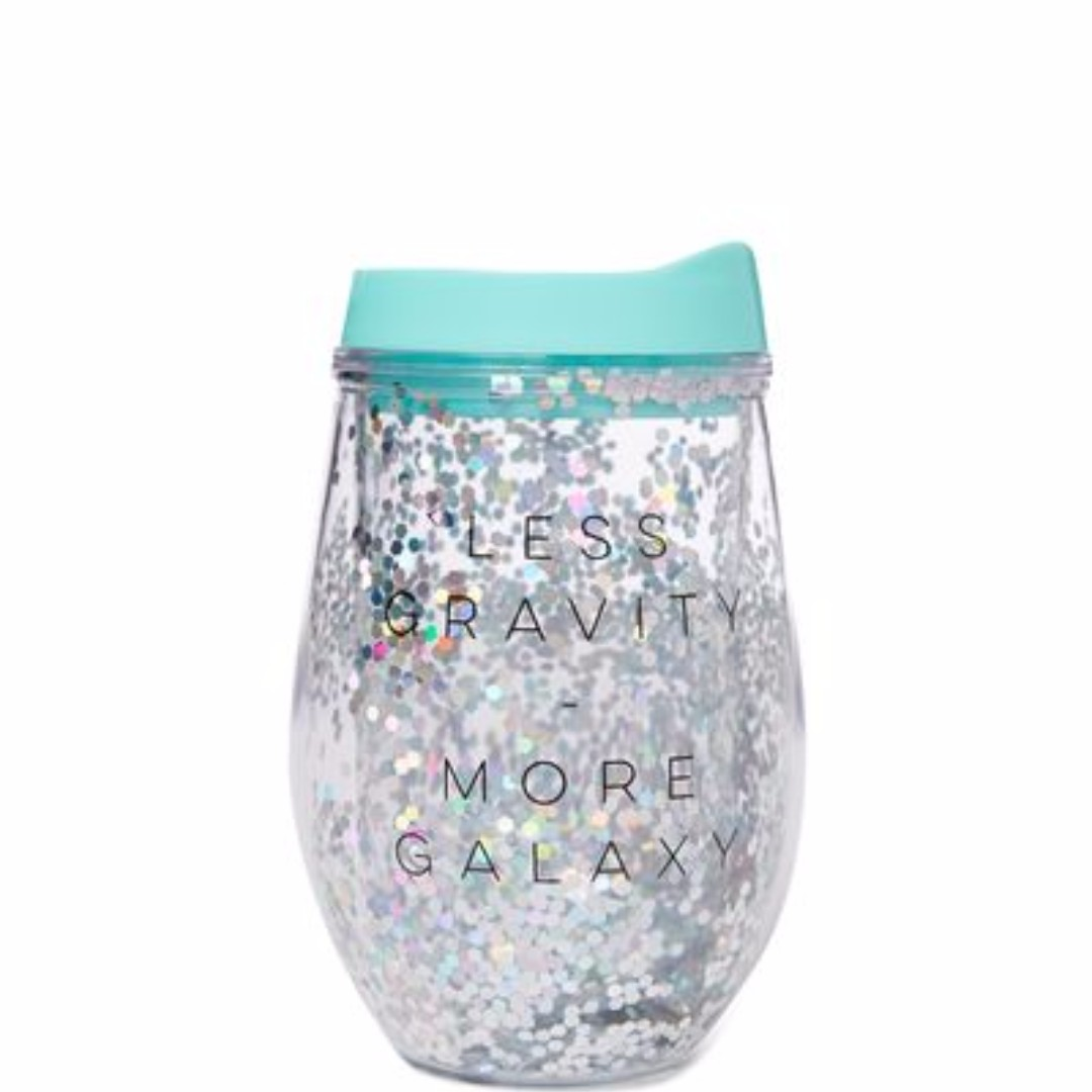 TYPO GLITTERED DOUBLE WALL TUMBLER (two designs)