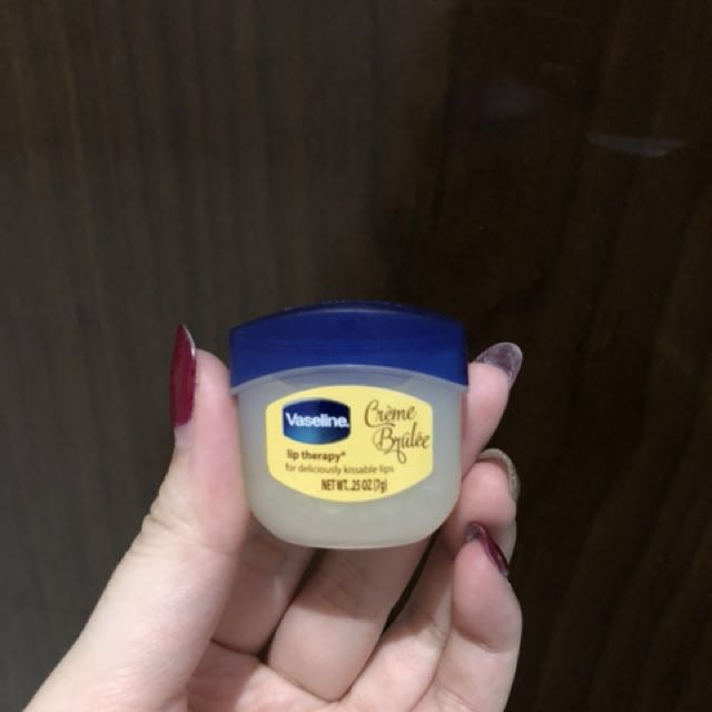 vaseline creme brulee lip theraphy