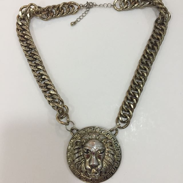 VERSACE INSPIRED Gold Lion Necklace