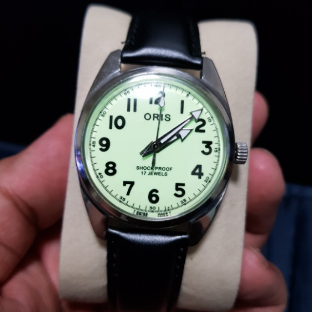 vintage oris manual wind watch men s fashion watches on carousell rh sg carousell com Timex Manual Wind Watches Mechanical Manual Wind Watches