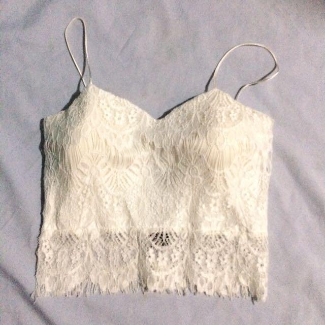 White Laced Bralette ♡