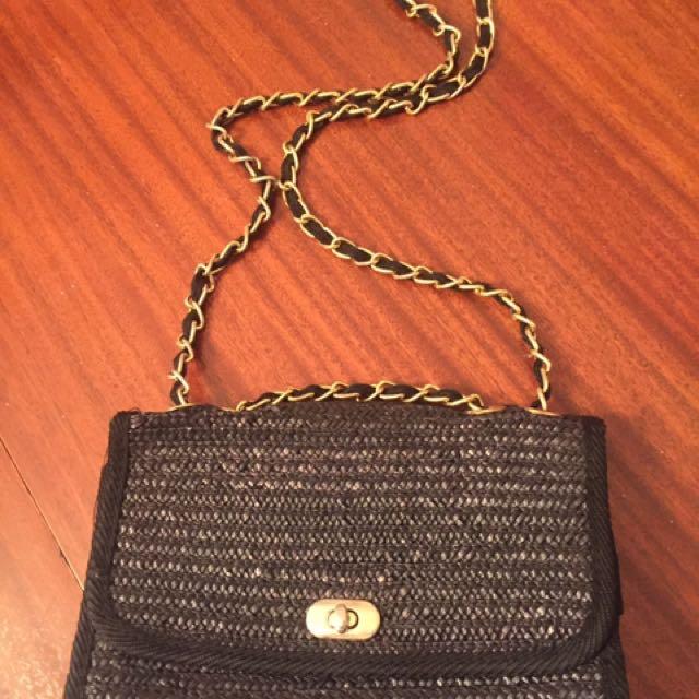 Wicker Chanel-esque Handbag