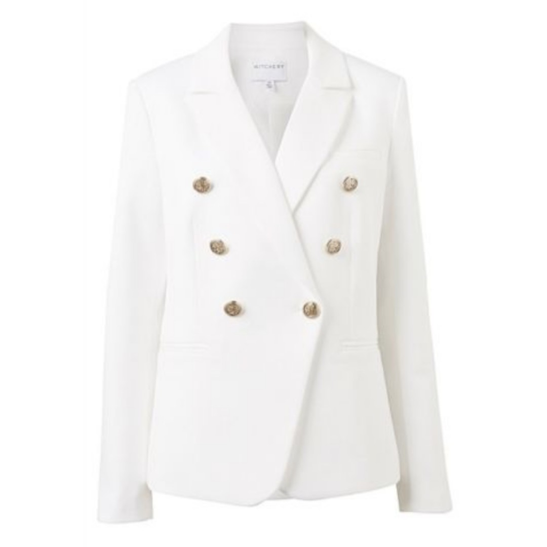 Witchery Double Twill Blazer - White - Size 10 BNWT - RRP $279