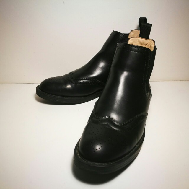 Handmade genuine leather Chelsea boots size 7