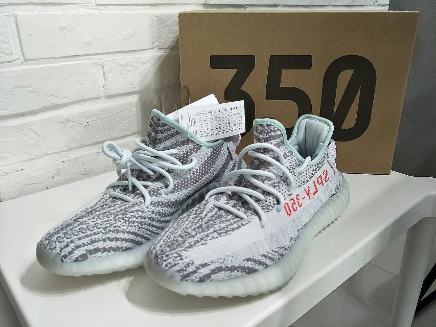 Adidas Yeezy 350 Boost V2 Blue Tint B37571 Sz 9 13