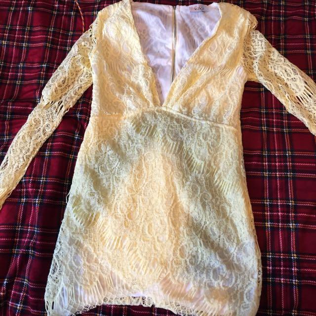 yellow dress from KIKI USA