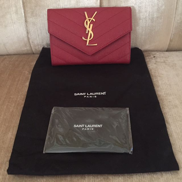YSL Monogram Envelope Wallet