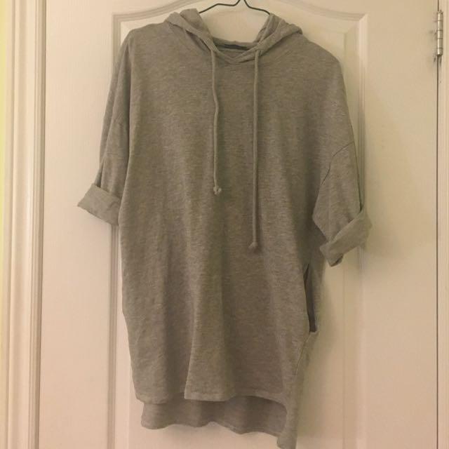 Zara hooded shirt size S