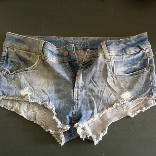 Zara low rise shorts
