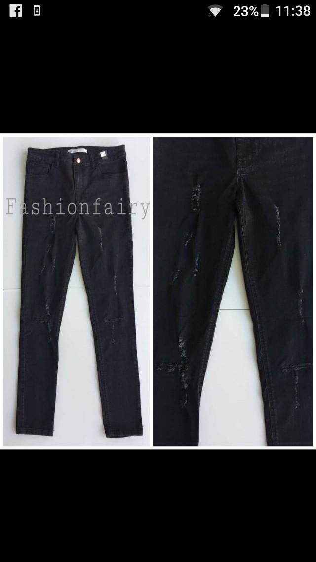 Zara tattered skinny jeans