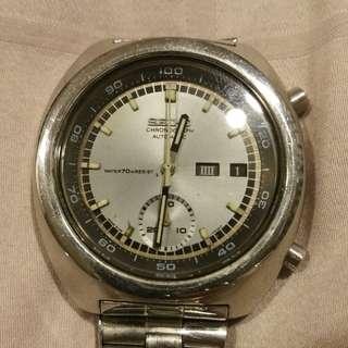 Seiko Watch 6139 7002 automatic chronograph