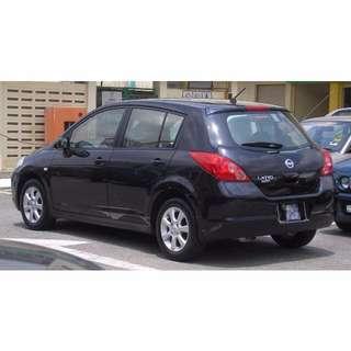 Nissan Latio 1.5A Sports Hatchback Black