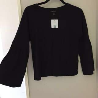 TopShop Wide Sleeved Black Shirt