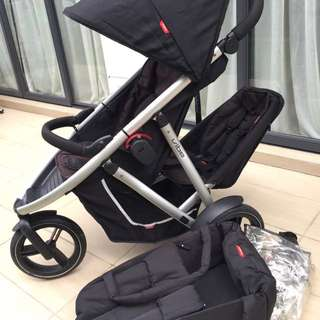 Phil&teds Vibe  Twin Stroller