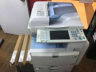 Ricoh Color copier, printer, scanner, fax... all in one with 3 original color toners