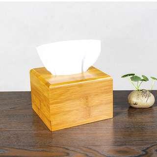 zakka 生活雜貨 竹子 小款 淺木色 竹木 面紙盒 紙巾盒 衛生紙盒 木製餐巾盒 OSU01C3