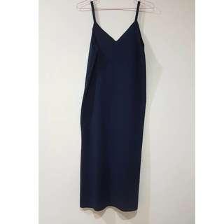 連身藍色裙