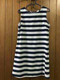 Dress stripe dark blue & white