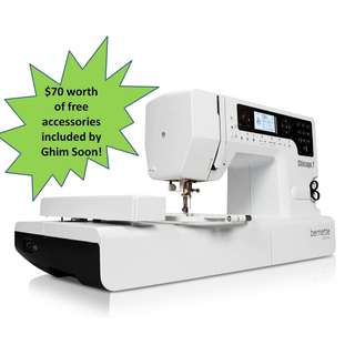 (2years warranty)(Free Gift) Bernette Chicago 7 Sewing and Embroidery Combo Machine