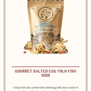 [新加坡熱賣手信零食]金鴨鹹蛋魚皮、薯片