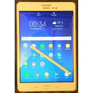 95%New Samsung Galaxy Tab A T355Y 16 GB 8 inch with Wi-Fi+4G Tablet  (Sandy White), Android 6.01, 2G RAM, 16G SSD,