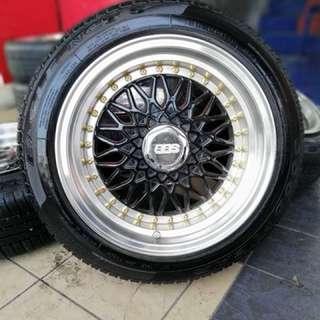 Bbs rs 15 inch sports rim iriz tyre 80% . Paling mantop di antarabangsa!!!