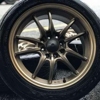 Mugen mf10 sports rim honda city tyre 70% . Ini bukan muruku, tetapi inilah mugen!!!