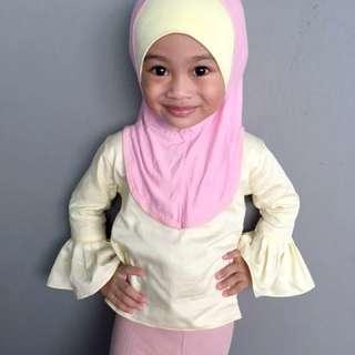 Custom made Tudung kanak-kanak Aisy by sn