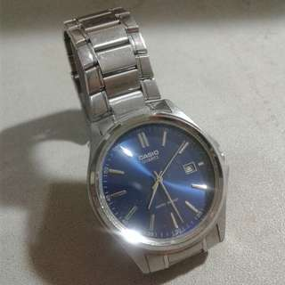 Casio MTP-1183 Blue Dial with box