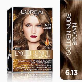 Sealed L'Oreal Excellence Fashion 6.13 Golden Nude Brown Hair Dye