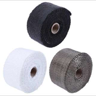 Thermal exhaust header tape heat insulating wrap tape