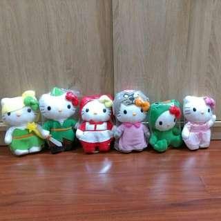 🚚 故事Kitty小紅帽,彼得潘,青蛙公主套組18公分高