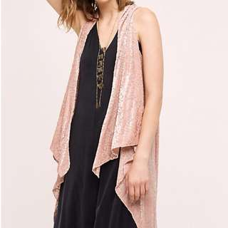 Anthropologie Selene Velvet Vest