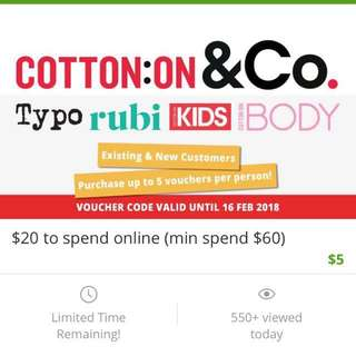 Cotton On voucher $20
