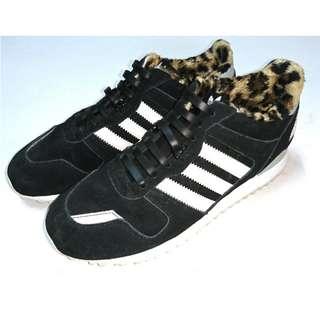 (7成新)ADIDAS ZX 700黑色內裡邊豹紋毛毛設計萌萌噠女鞋運動鞋B25718
