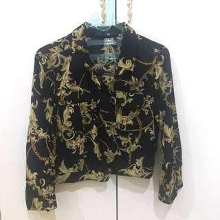 Forever 21 Black gold shirt