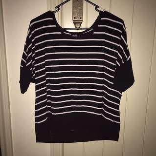 Dotti Striped Quarter Sleeve Shirt