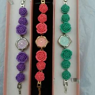 🆕🌹🌷⌚JP brand ANS all round flower watch