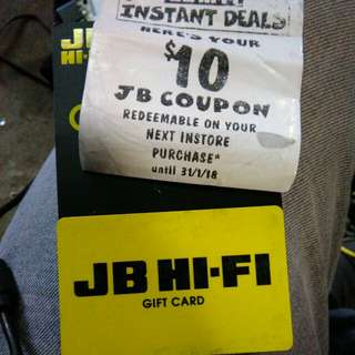JB hi-fi gift store voucher to the value of $198
