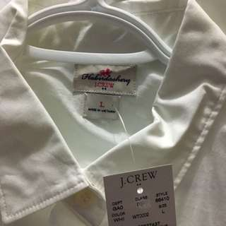 J Crew White Oxford