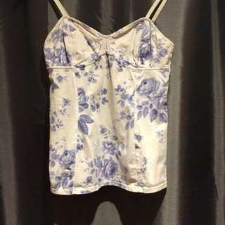 Blue and White Aritzia Tank Top