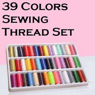 39 Colours Sewing Thread Set (Singapore Seller + 100% Authentic) HM1017